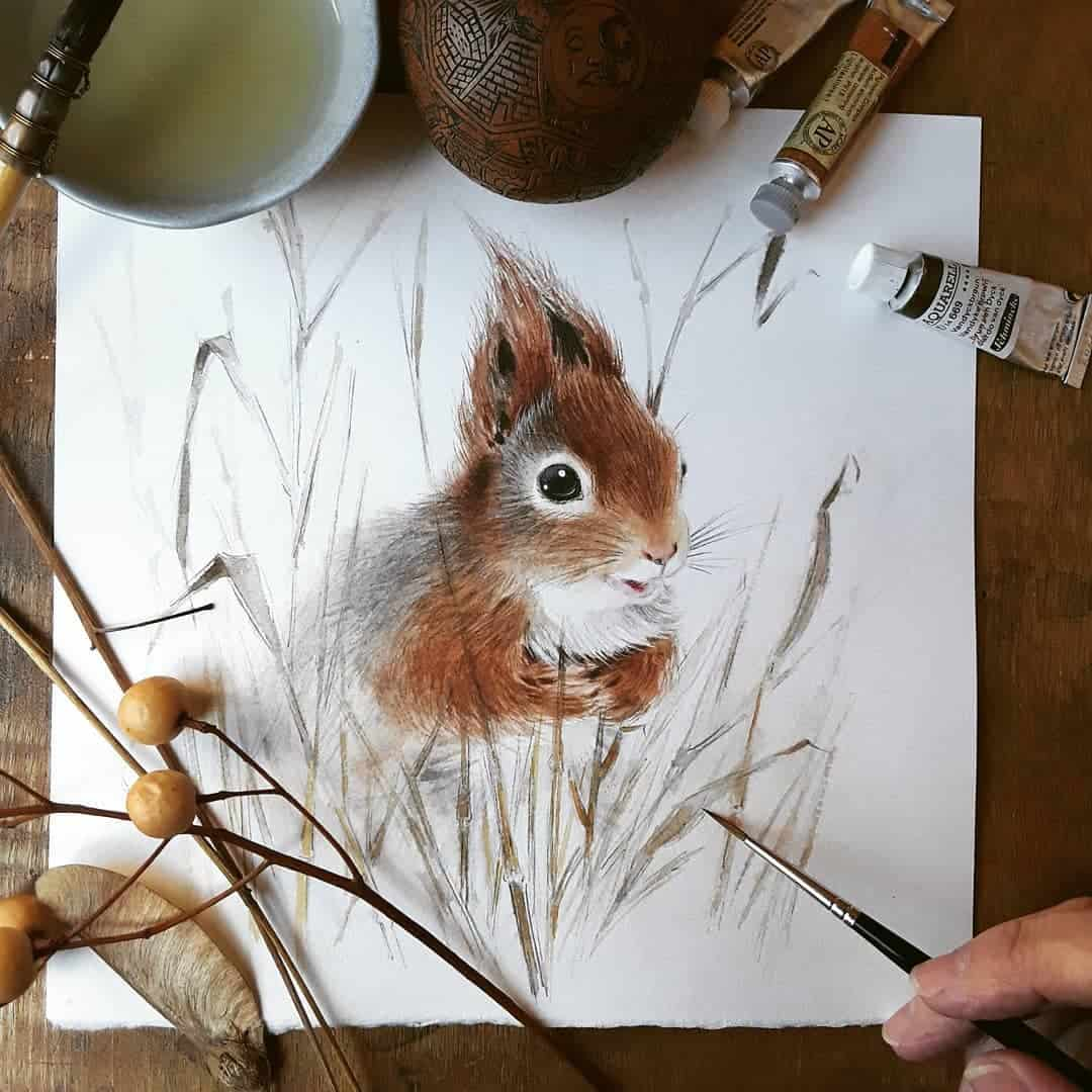 Lively Watercolor Animal Paintings by Anna Llorens