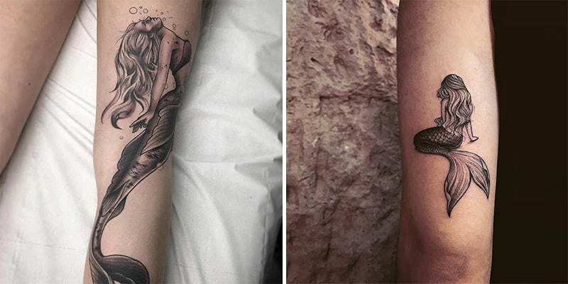 24 The Most Popular Mermaid Tattoo Designs