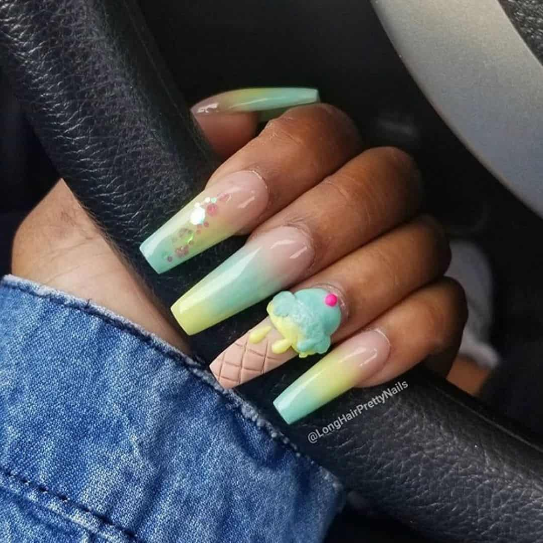 22 Ice Cream Nail Art Ideas Youll Want To Try!