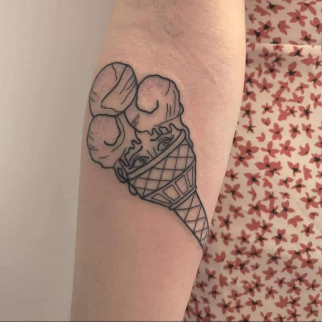 24 Super Cute Ice Cream Tattoo Ideas