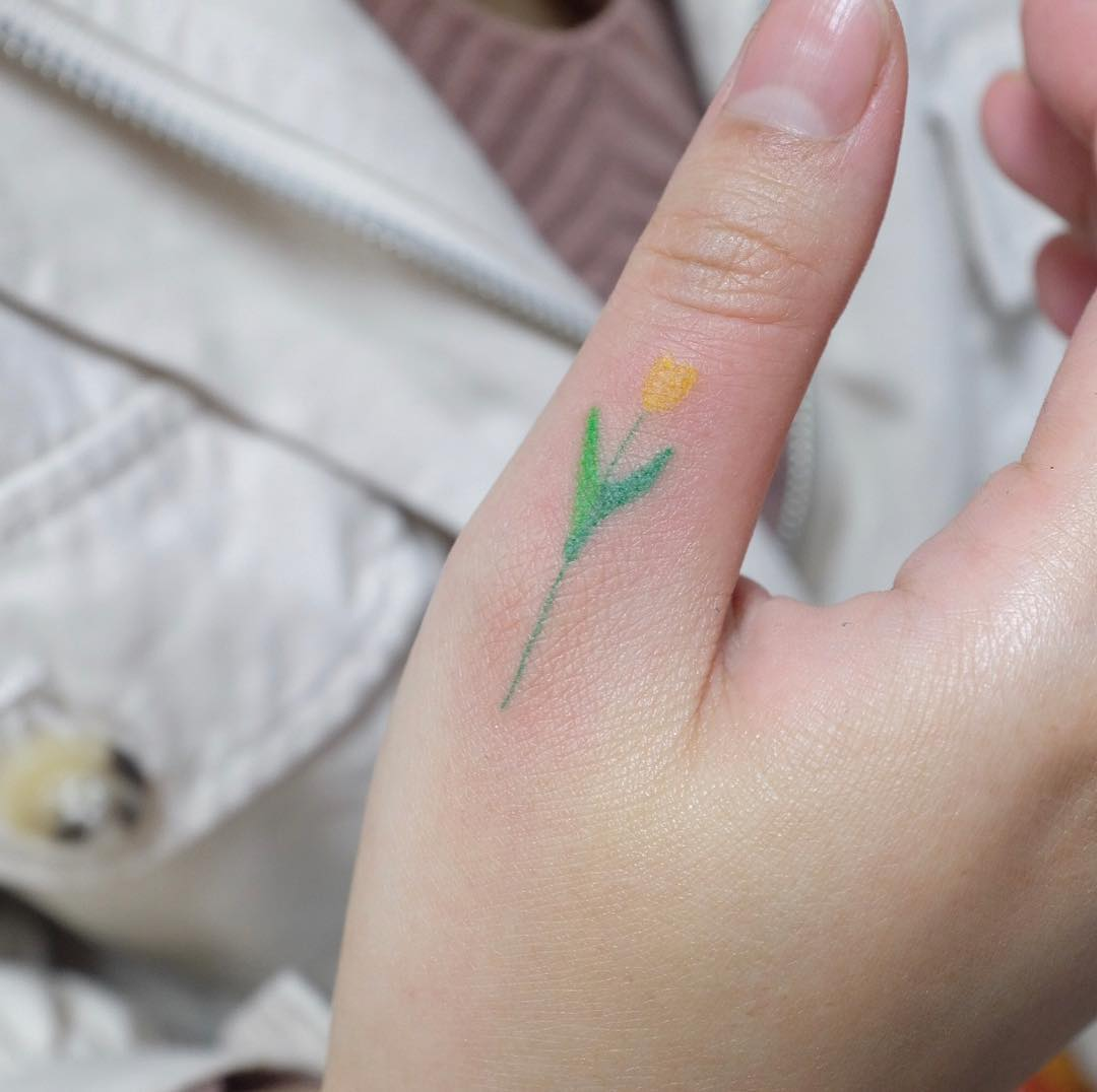 Minimalist Hand Poke Tattoo Designs by Shin Yeoreum