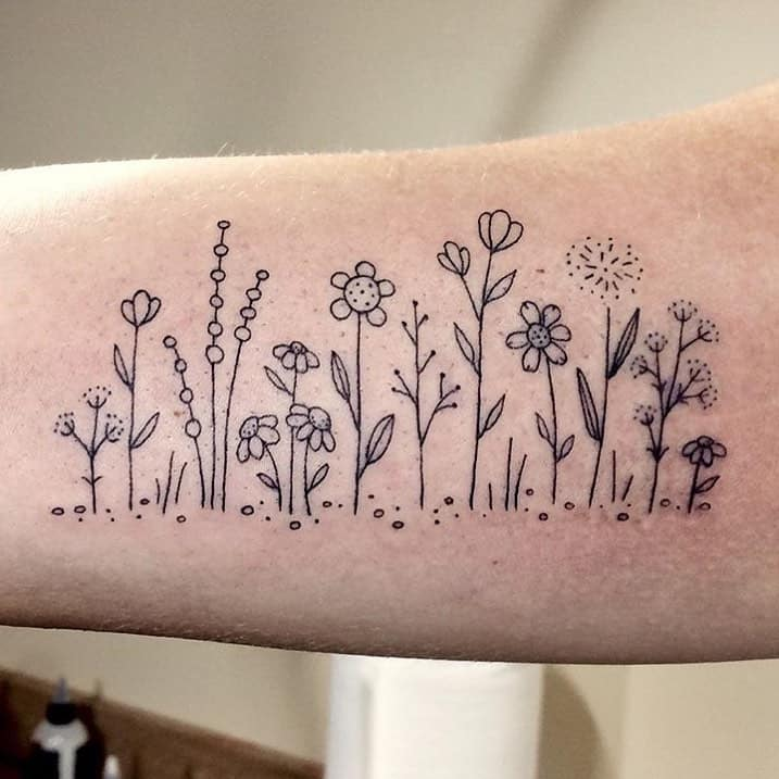 Awesome Floral Tattoos by Melissa Contreras