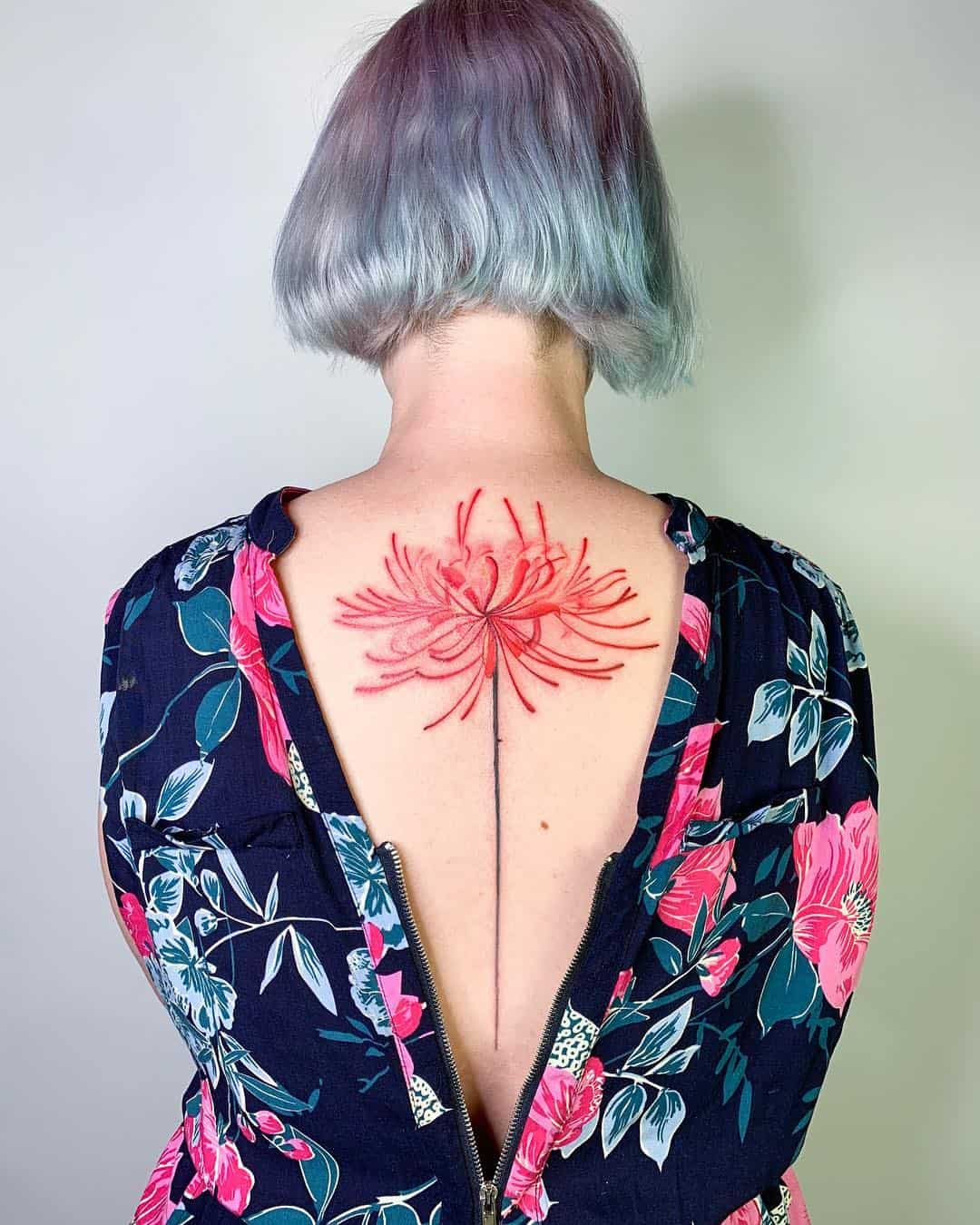 Chinese Ink Artist Designs Impressive Floral Tattoos