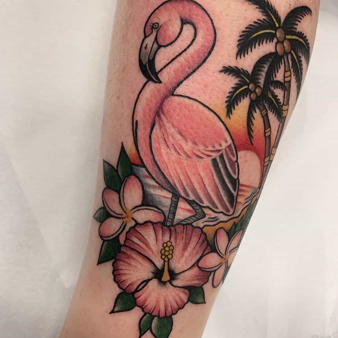 21 Perfect Flamingo Tattoo Designs for Ink Art Lovers