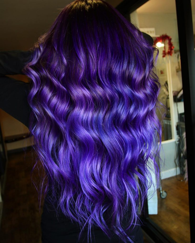 Hot Looks for Purple Hair