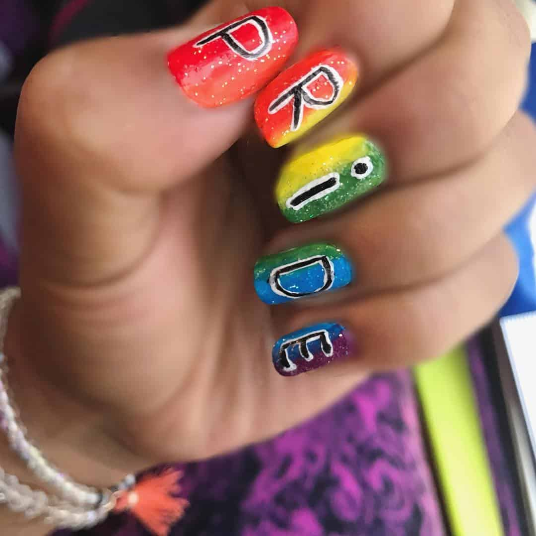 22 Extremely Colourful Nail Art Ideas for Pride
