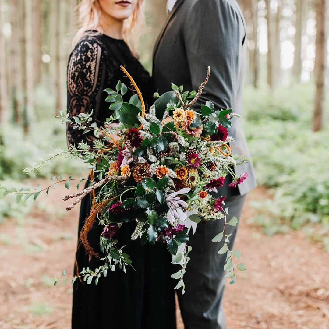 Moody and Gorgeous Bridal Bouquets and Photography