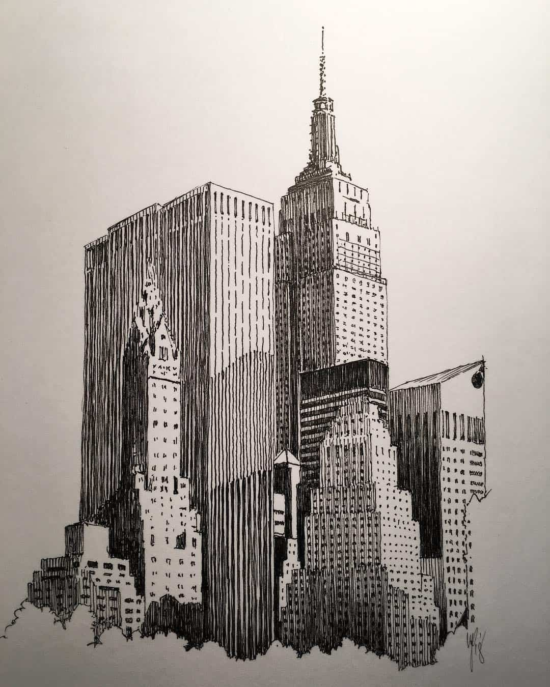 Artist Marc Poulier Creates Stunning Architectural Drawings