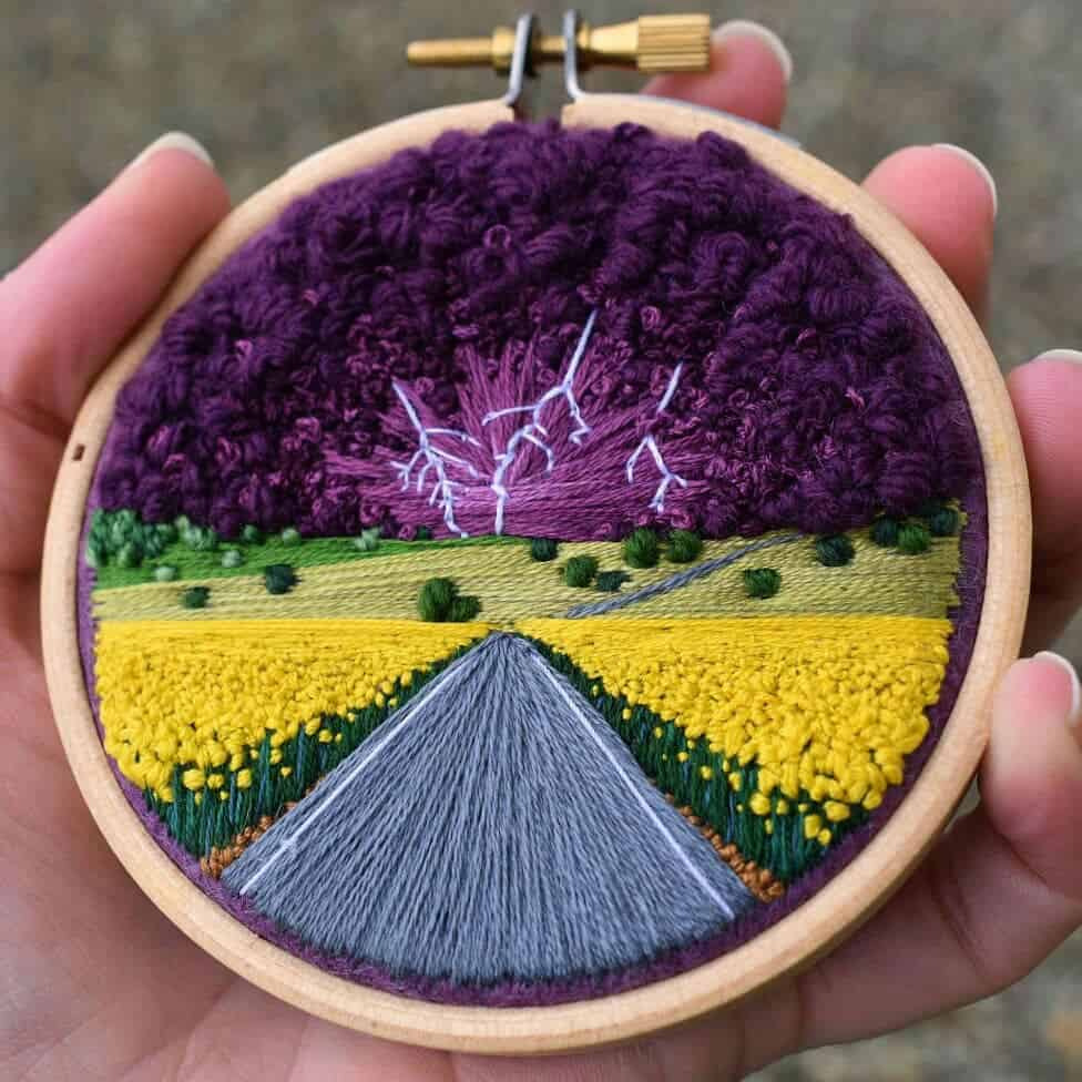 Aerial Embroidery Landscapes by 21 Year Old Victoria Rose Richards