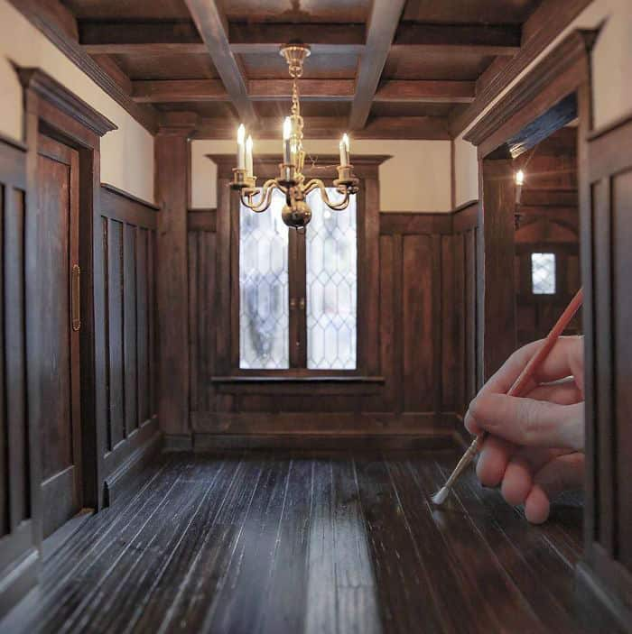 Remarkable 100% Historically Accurate Miniature Rooms from Different Eras by Chris Toledo