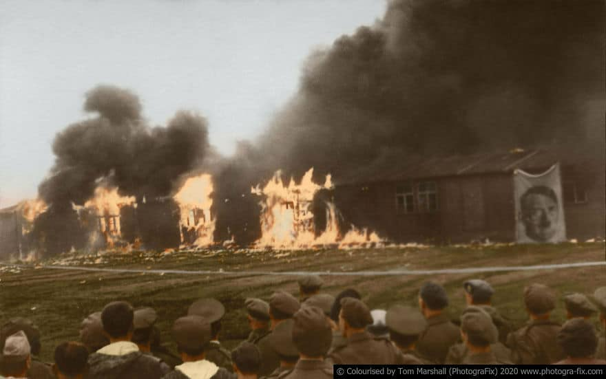 Holocaust's Horrors Colourised by Tom Marshall
