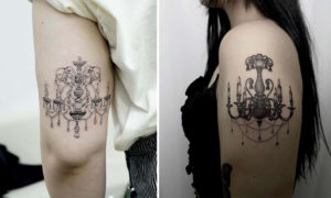 23 Chandelier Tattoo Examples with Gorgeous Details
