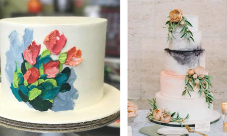 Delicately Embroidered Cakes by Heather Anne