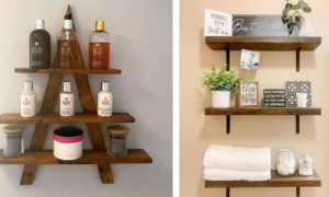 24 Smart Ways to Accessorize Bathroom Shelves