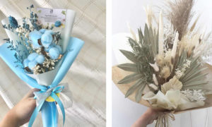 23 Pretty Dried Flower Bouquets For Non-Traditional Brides