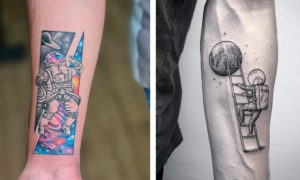 24 Super Cool Astronaut Tattoo Designs