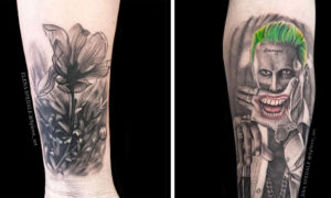 Black And White Realistic Tattoo Designs by Elena Spedale