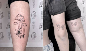 Bewitching Fine Line Tattoo Designs by Valerie
